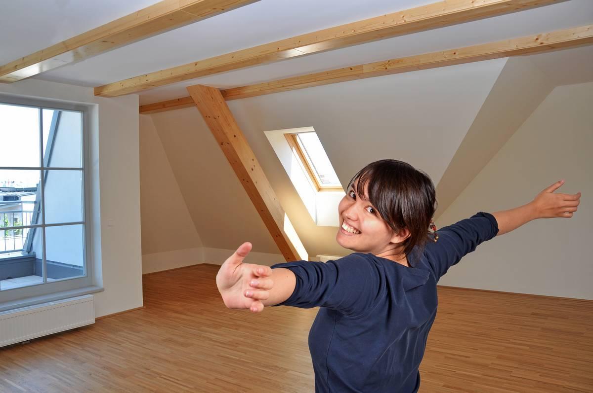 Innenausbau, Dachwohnung, neue Wohnung